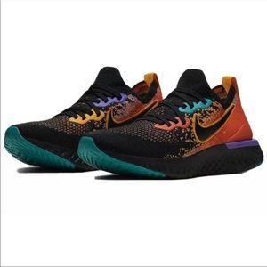 Nike | Epic React Flyknit 2 Black Ember Size 8 NEW